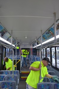 EV Bus Crew employees at work